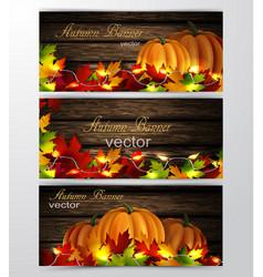 Three autumn banners vector