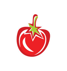 Tomato fruit vegetable logo vector