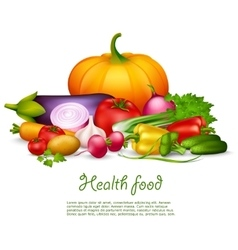 Vegetable Health Food Design Concept vector image vector image