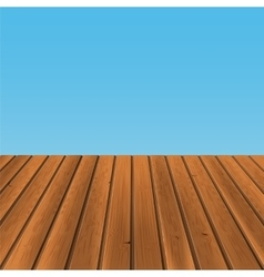 wood floor with blue back vector image vector image