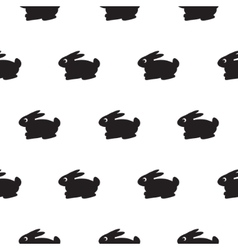 Rabbit black and white kid pattern vector