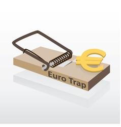 Mousetrap with euro money vector