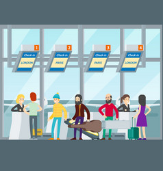 Passengers in airport concept vector