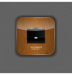 Documents wood application icons vector