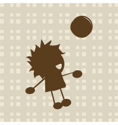 Little boy playing with ball vector