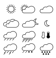 Weather icons with white background vector