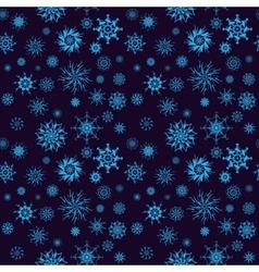 Elegant neon blue snowflakes of various styles vector