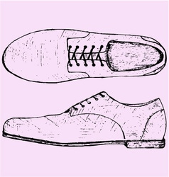 Shoes shoelace vector