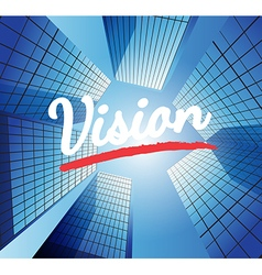 Vision concept with abstract background vector