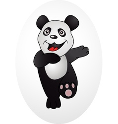 happy panda vector image