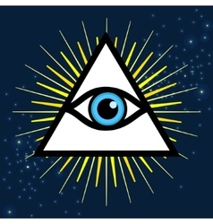 Sign third eye vector image