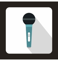 Wireless microphone icon in flat style vector