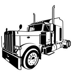 American Truck vector image