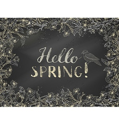 Chalk spring template vector image vector image