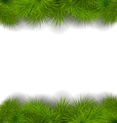 Christmas frame made in realistic fir twigs vector image vector image