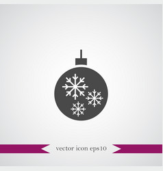 christmas tree toy icon simple vector image vector image