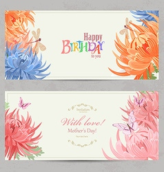 collection horizontal banners with beauty vector image