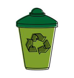 Disposable cup recyclable icon image vector