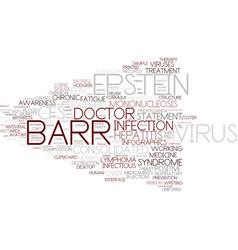 Epstein-barr word cloud concept vector