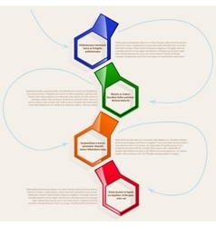 four color hexagonal frames for text or vector image vector image