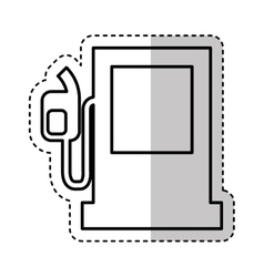 Fuel station pump icon vector