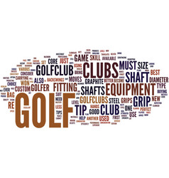 Golf tip text background word cloud concept vector