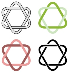 Intertwined triangles vector