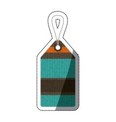 Isolated paper hang label design vector