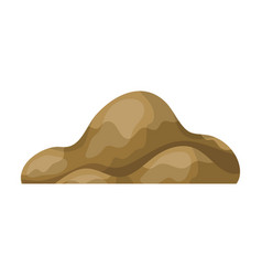Low brown sand mountaindifferent mountains single vector