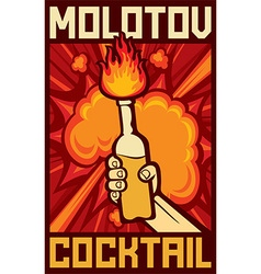 Molotov cocktail vector image vector image