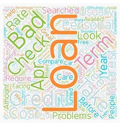 No credit check personal loans when credit weighs vector image vector image