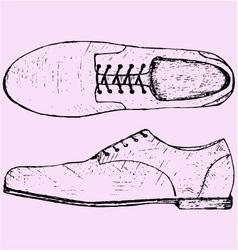 Shoes shoelace vector
