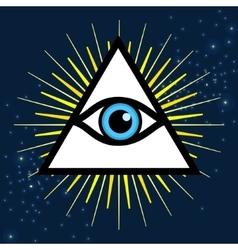 Sign third eye vector