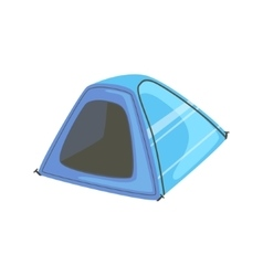 Small blue bright color tarpaulin tent vector
