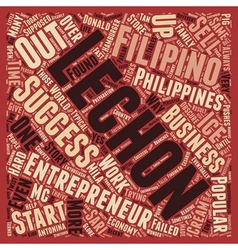 Successful filipino entrepreneurs text background vector