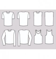 t-shirts man vector image vector image