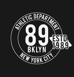 vintage badge athletic sport typography for t vector image vector image