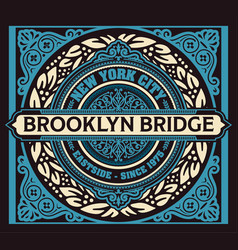 Vintage new york brooklyn t-shirt vector