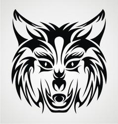Wolf Head Tribal vector image vector image