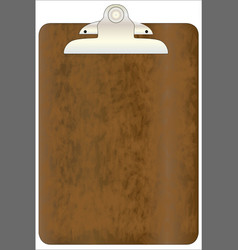worn clipboard vector image vector image