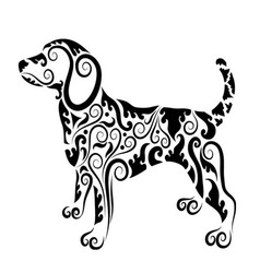 Dog ornament decorative vector image