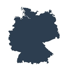 Map of Germany isolated on white background vector image