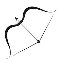 Viking bow icon in black style isolated on white vector image