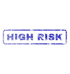 High risk rubber stamp vector