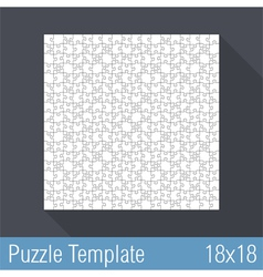 Puzzle template 18x18 vector