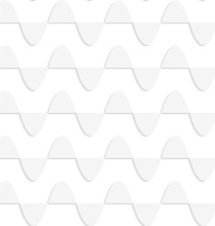 Paper white horizontal semi ovals in row vector