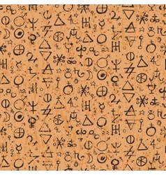 Pattern with alchemy symbols vector