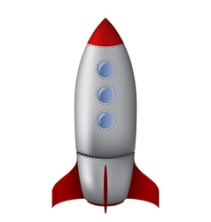 Cartoon steel rocket vector