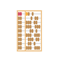 Abacus chinese background calculator isolated vector
