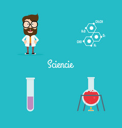 abstract science objects vector image vector image